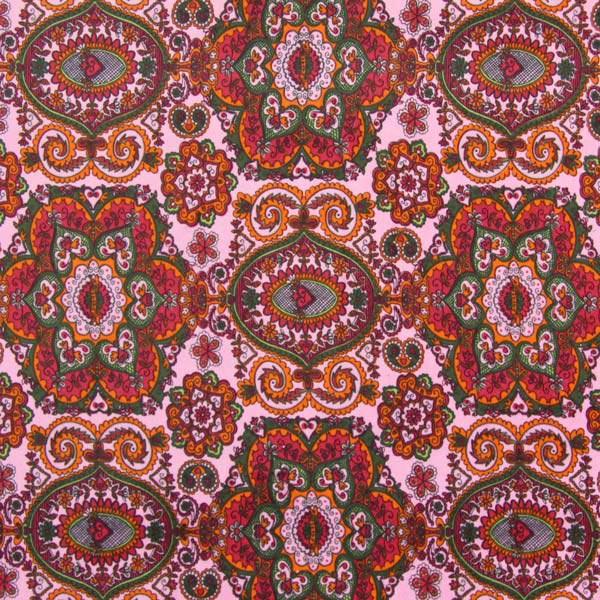 Samt Sheela - rosa - Muster