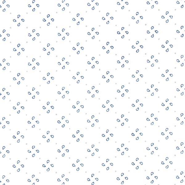 Baumwollstoff Propeller - weiss - Muster