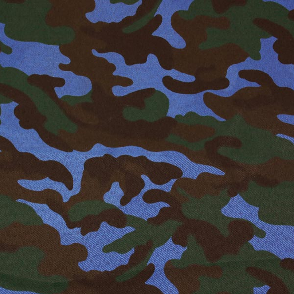 Polyester Stoff Camouflage Military – blau