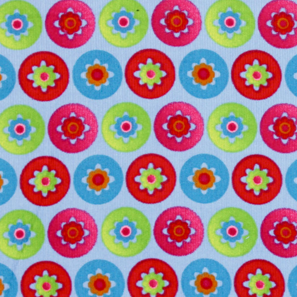 Fine Corduroy Flower Circle 1 Embroidered Amp Printed