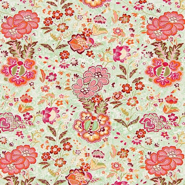 Jersey Fantasy Blumen - pastellgrün