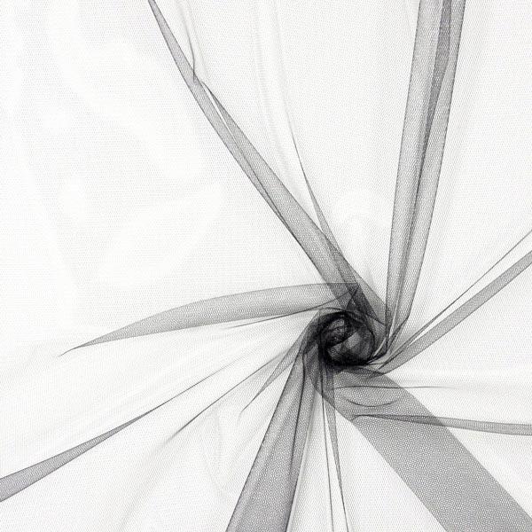 Weicher Tüll - schwarz - Muster