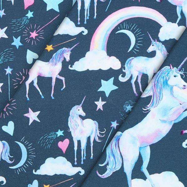 Tessuto jersey di cotone unicorno blu cyber week for Tavolo unicorno