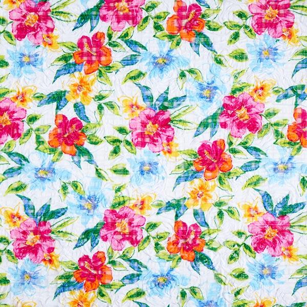 9c9aadb39 Tul de encaje Bordado floral 3D – blanco azul - Encajes- telas.es