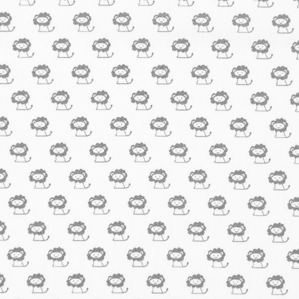 Tela de algodón Leones pequeños – blanco - Telas de camisa y blusa ...