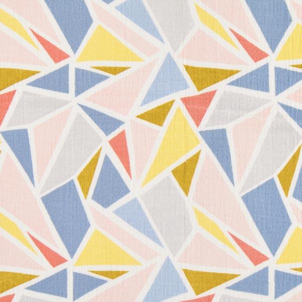 Doppel Krinkel in Weiß mit bunten Dreiecken