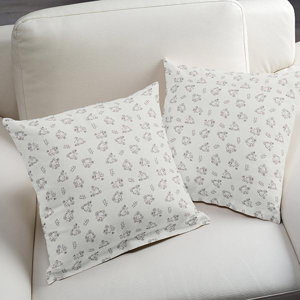 tissu en coton souriceau blanc popeline. Black Bedroom Furniture Sets. Home Design Ideas