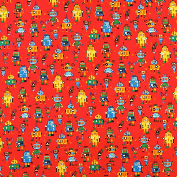 Corduroy funky robot 1 children 39 s clothing for Kids corduroy fabric