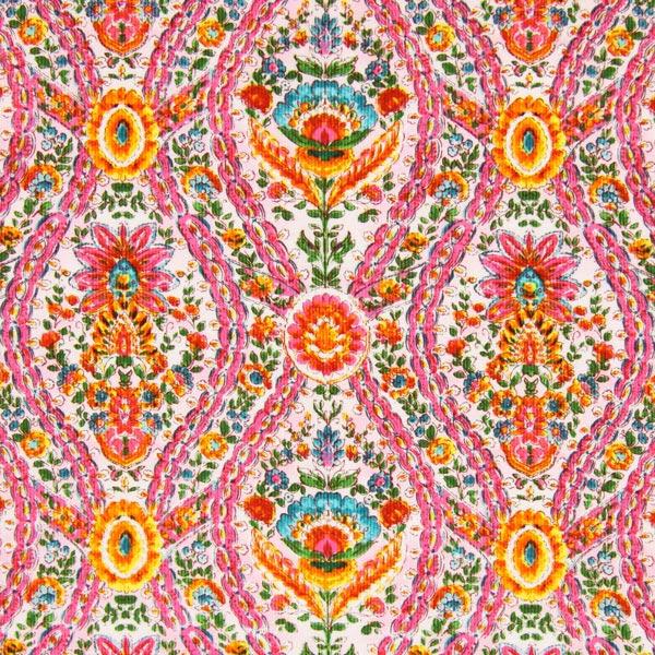 Cord Blumenkette - rosa - Muster