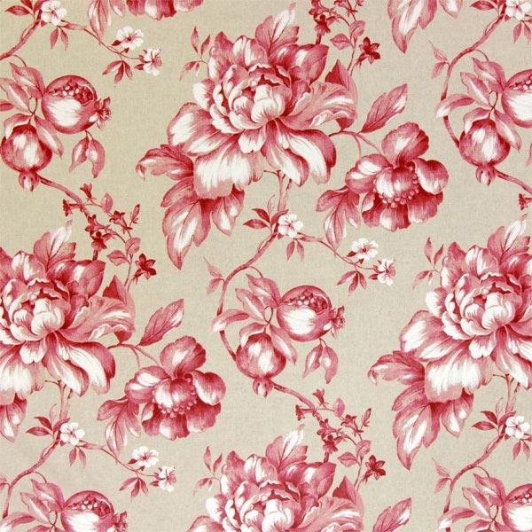 Granado 1 rojo telas extra anchas y hasta los techos - Telas inglesas para tapizar ...