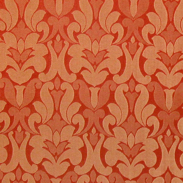 Möbelstoff Victoria Ornament – terracotta – Muster
