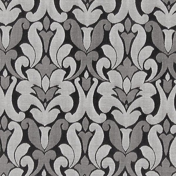Möbelstoff Victoria Ornament – grau – Muster
