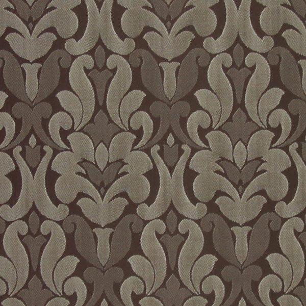 Möbelstoff Victoria Ornament – braun – Muster