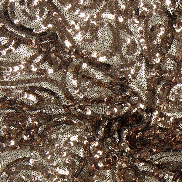 tissu paillettes new york cuivre tissus tenues de. Black Bedroom Furniture Sets. Home Design Ideas
