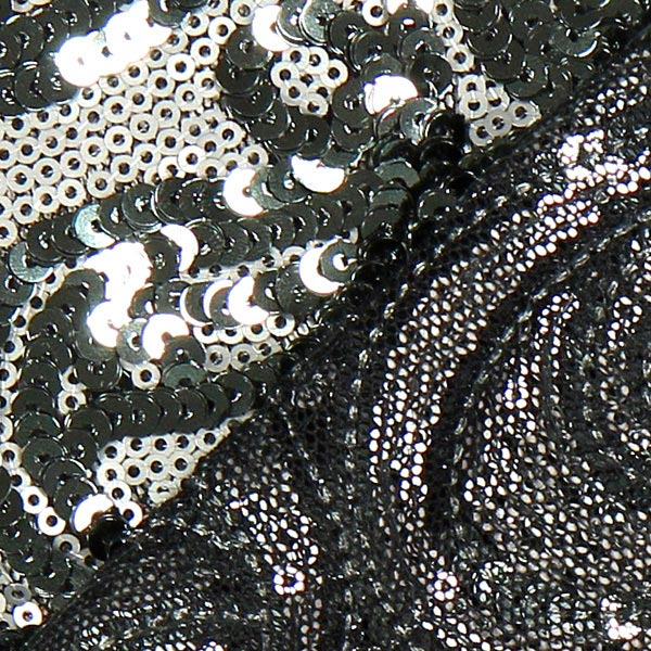 tissu paillettes new york argent tissus d. Black Bedroom Furniture Sets. Home Design Ideas