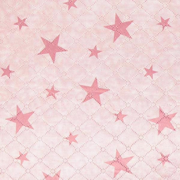 Altrosafarbener Teddy-Steppstoff mit Sternen
