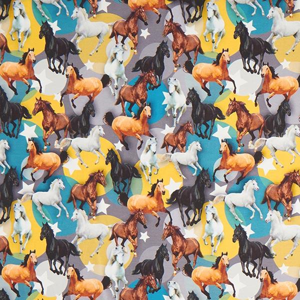 Digitaldruck Pferde auf Baumwolljersey