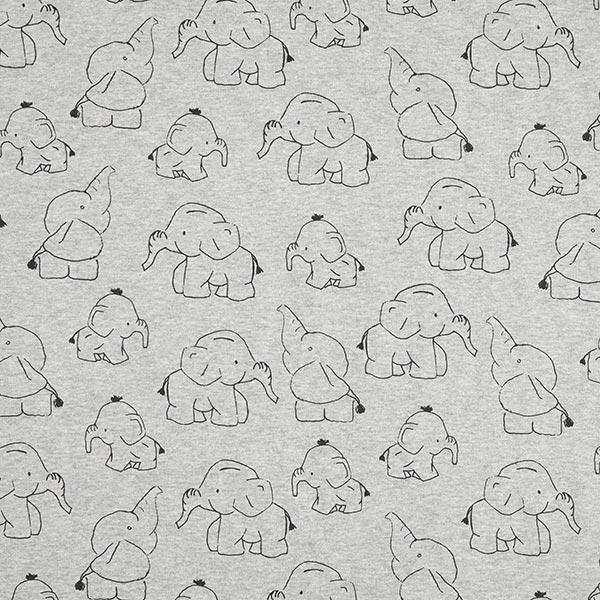 Forro alpino Absorbente de sudor elefante bebé – gris - Telas para ...