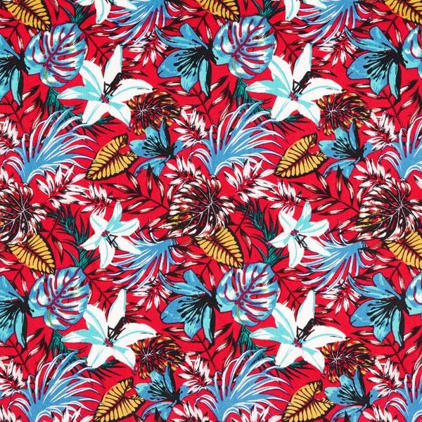 Leichter Blusenstoff für Blusen und Hemden im exotischen Look