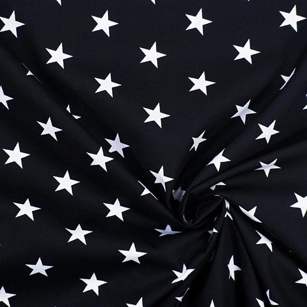 Baumwollstoff Sterne 1 - navy