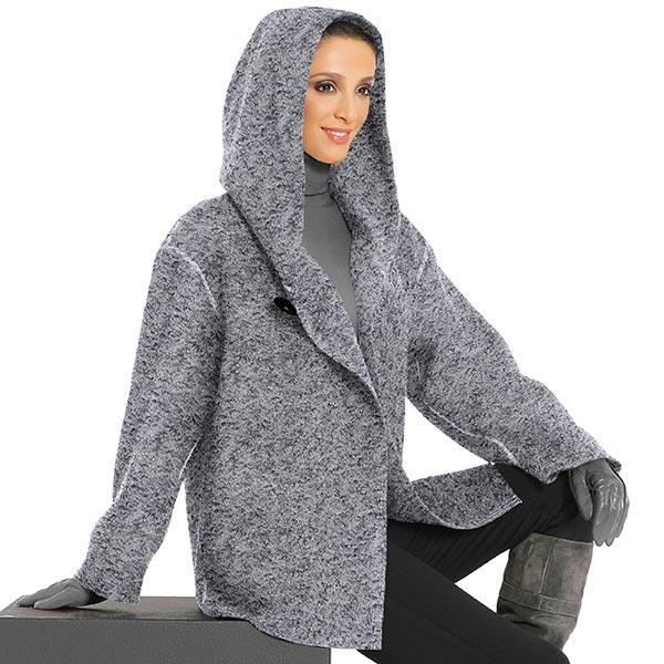 finta pelliccia agnellino 1 - grigio chiaro - Tessuti per ...
