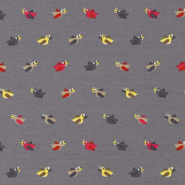 Jersey petit oiseau gris jersey coton for Petit oiseau gris