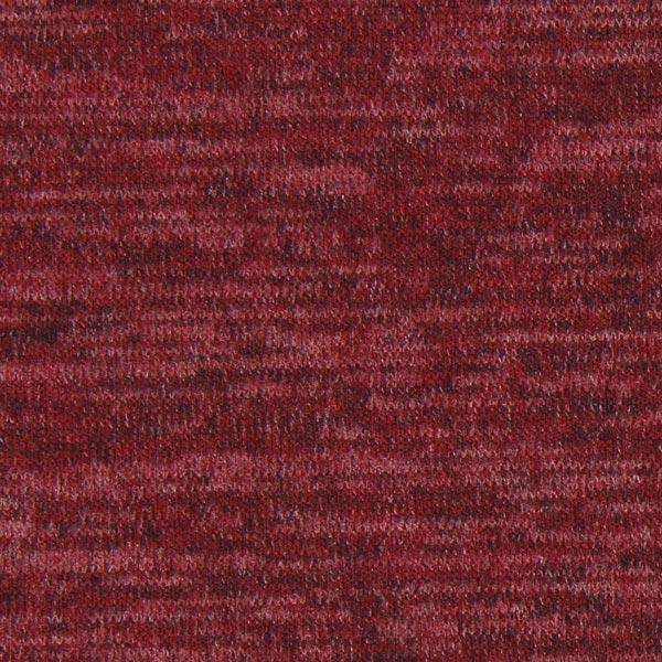 Strick Melange - bordeauxrot - Muster