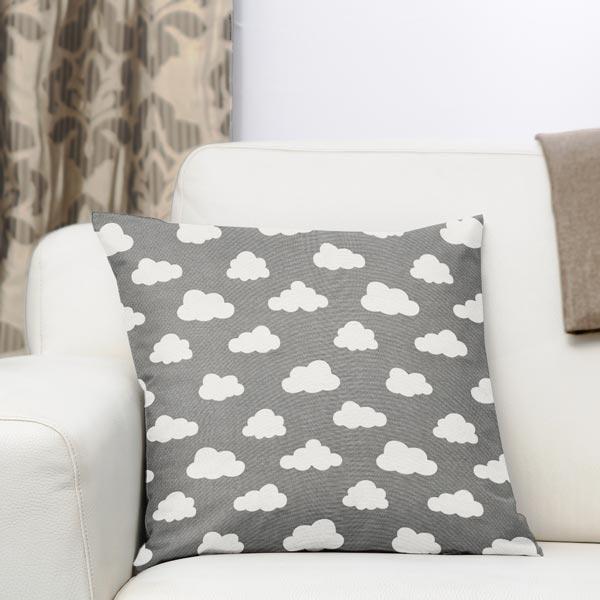 tissu de d coration nuage 4 gris tissus pour coussins et plaids. Black Bedroom Furniture Sets. Home Design Ideas