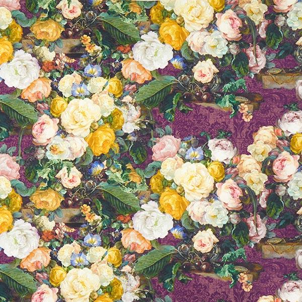Dekostoff mit romantischem Rosenmuster