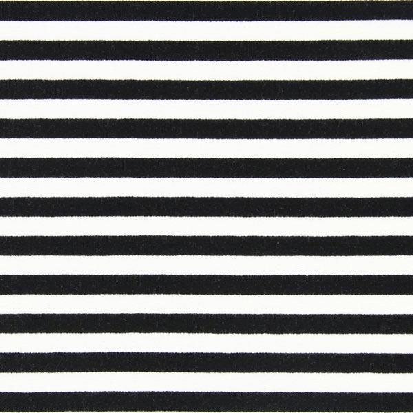 French Terry Streifen 4 - schwarz weiß - Homewear ... bc26655e1a