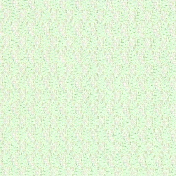 Grobe Spitze Sweatshirt – mintgrün – Muster