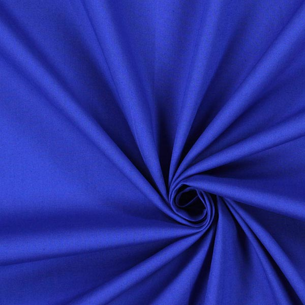 Königsblaue Popeline Stretch