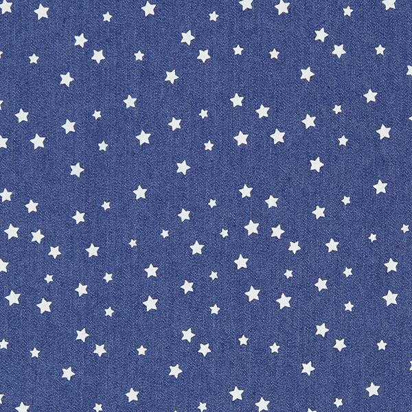 Jeansblauer Chambray mit weißen Sternchen