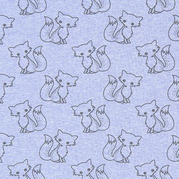 Hellblauer Sommersweat mit kleinen Füchsen