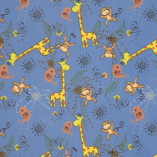 Jeansblauer Softshell mit niedlichen Zootieren