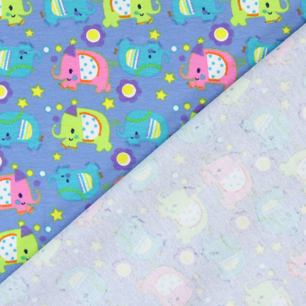 Jersey magical elephant 1 children 39 s fabrics for Children s jersey fabric uk