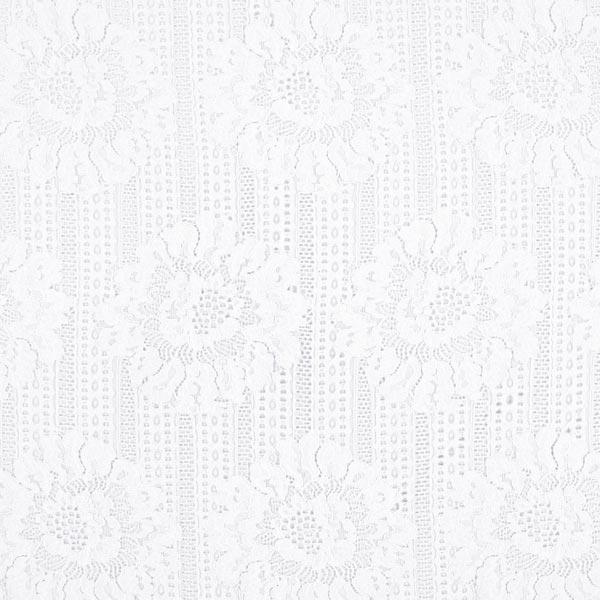 Spitze große Blumen – weiss – Muster