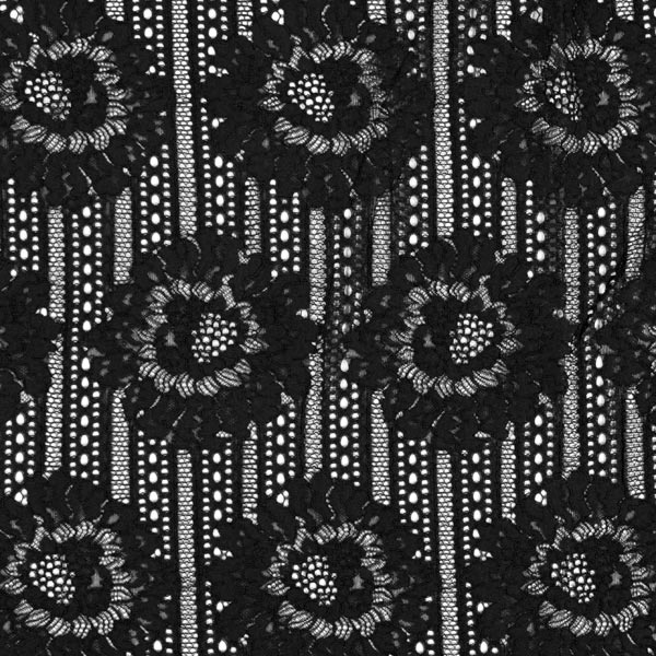Spitze große Blumen – schwarz – Muster