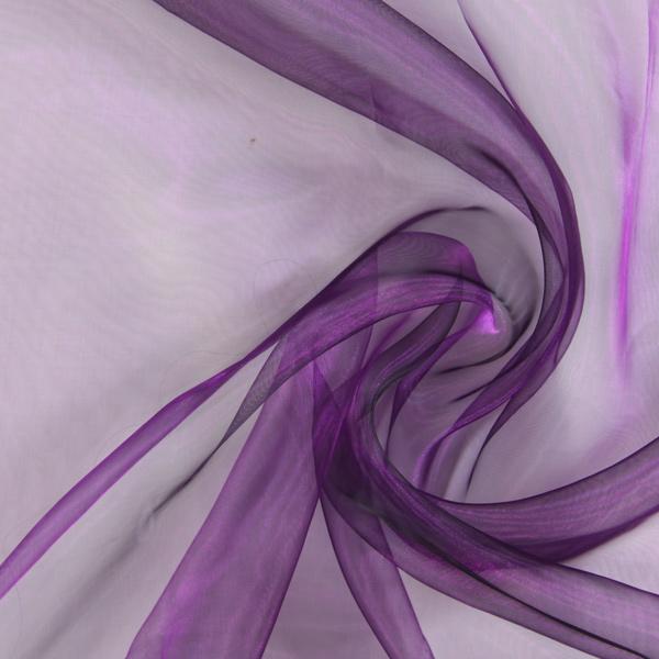Organza – aubergine – Muster