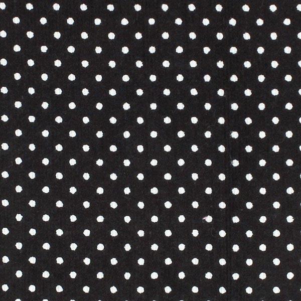 Schwarzer Cord mit weißen Punkten