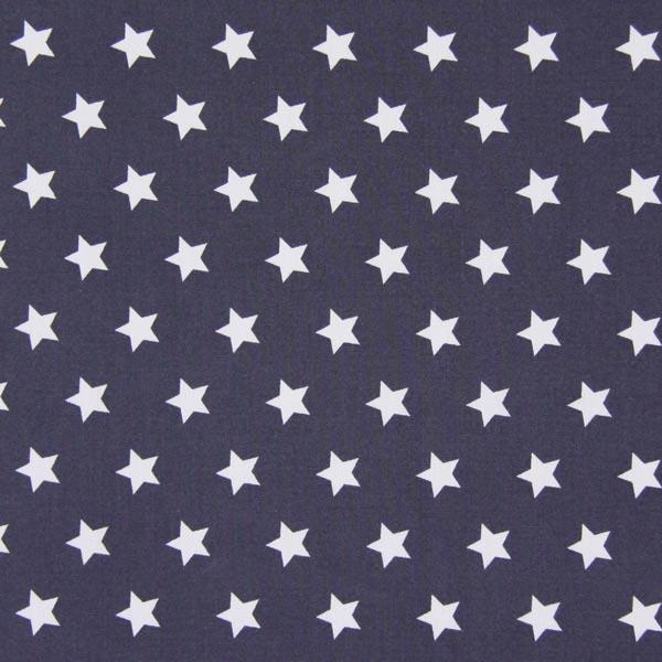 Baumwollstoff Sterne 1 – grau