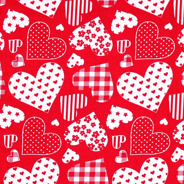 Cotton dancing hearts 3 children 39 s clothing for Children s cotton dress fabric