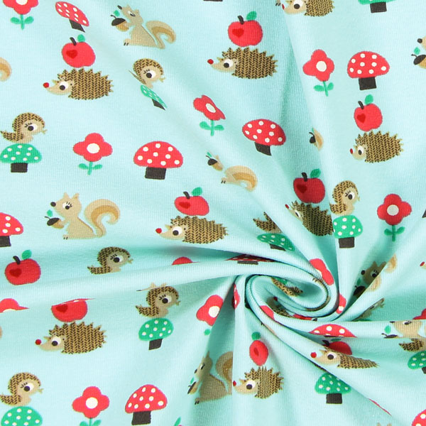 Jersey forest trail 3 children 39 s fabrics for Children s jersey fabric uk