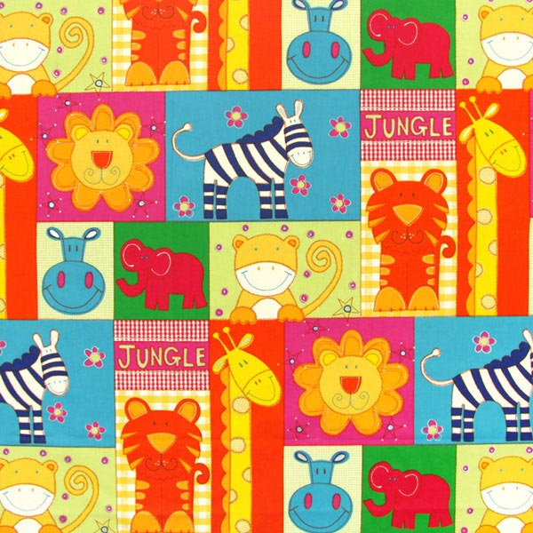 Jungle zoo 1 children s decor fabricsfavorable buying at for Childrens jungle fabric