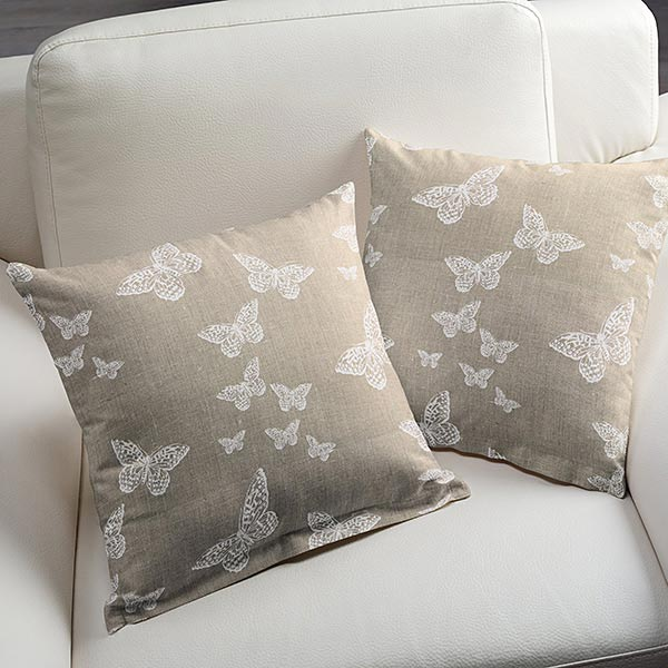 leinenstoff lysandra schmetterling natur leinenstoffe. Black Bedroom Furniture Sets. Home Design Ideas