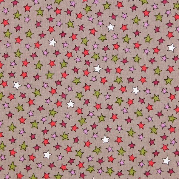Baumwollstoff bunte Sterne 2