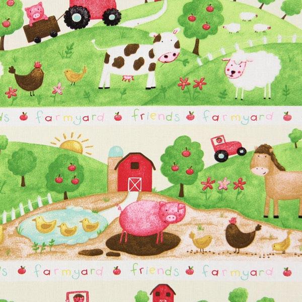 Baumwollstoff Farm 1 - grün