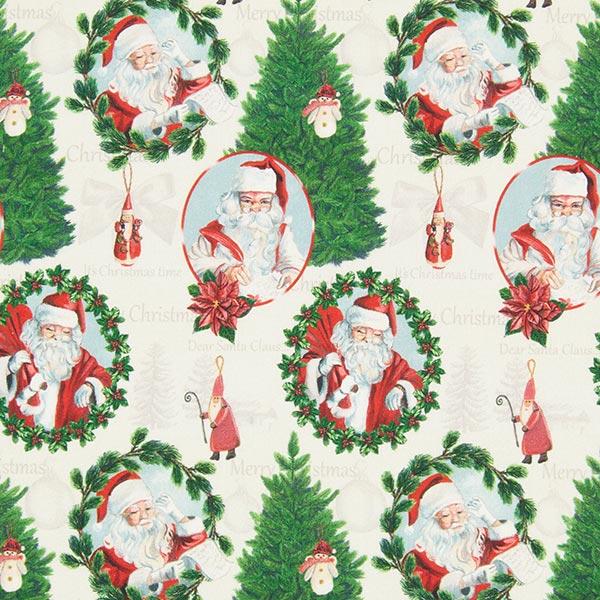 Baumwollstoff Santa Claus Gr N Weihnachtsstoffe