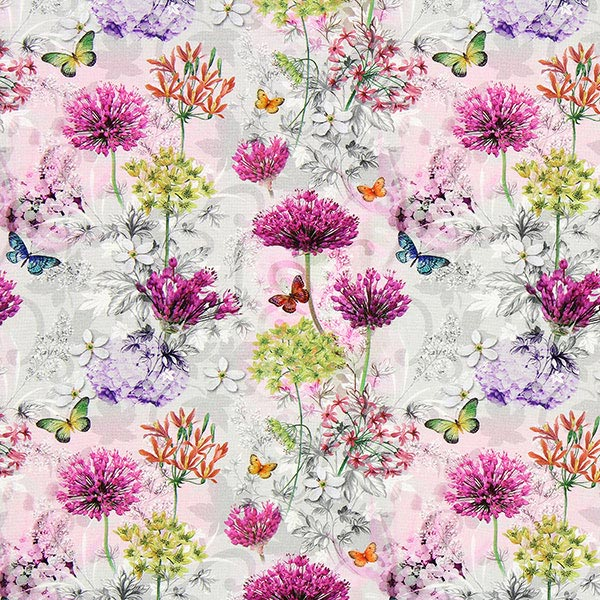 Cretonne Jardin Fleuri Lepy Tissus Patchwork Tissus Net