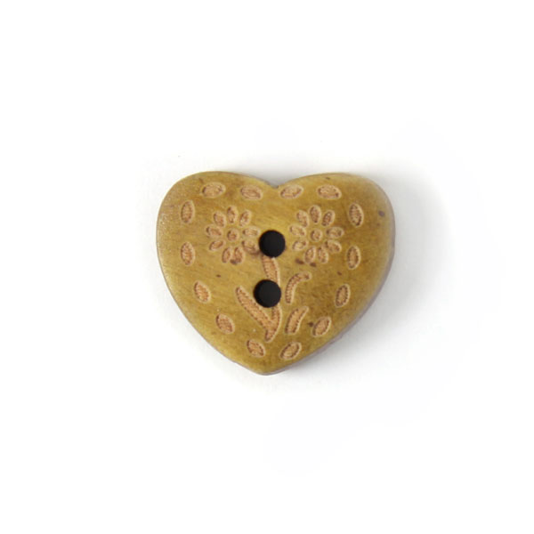 Holzknopf Heart